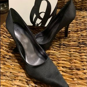 Beautiful Black Satin Nine West Shoes, 5.5